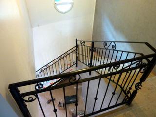 Installation de garde corps escalier
