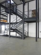 Escalier industriel en Savoie