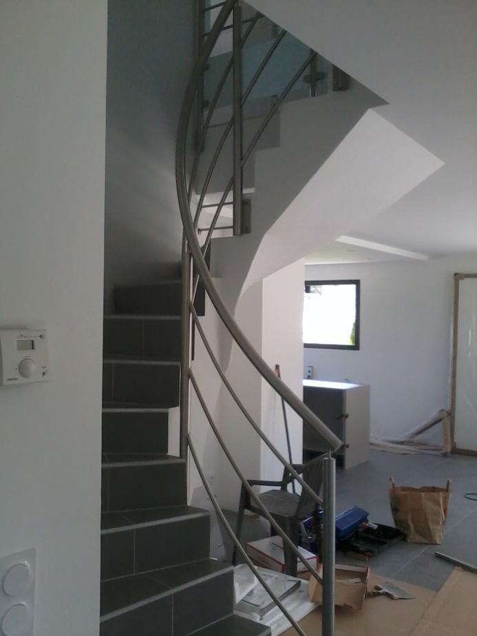 Garde-corps escalier en colimaçon en inox